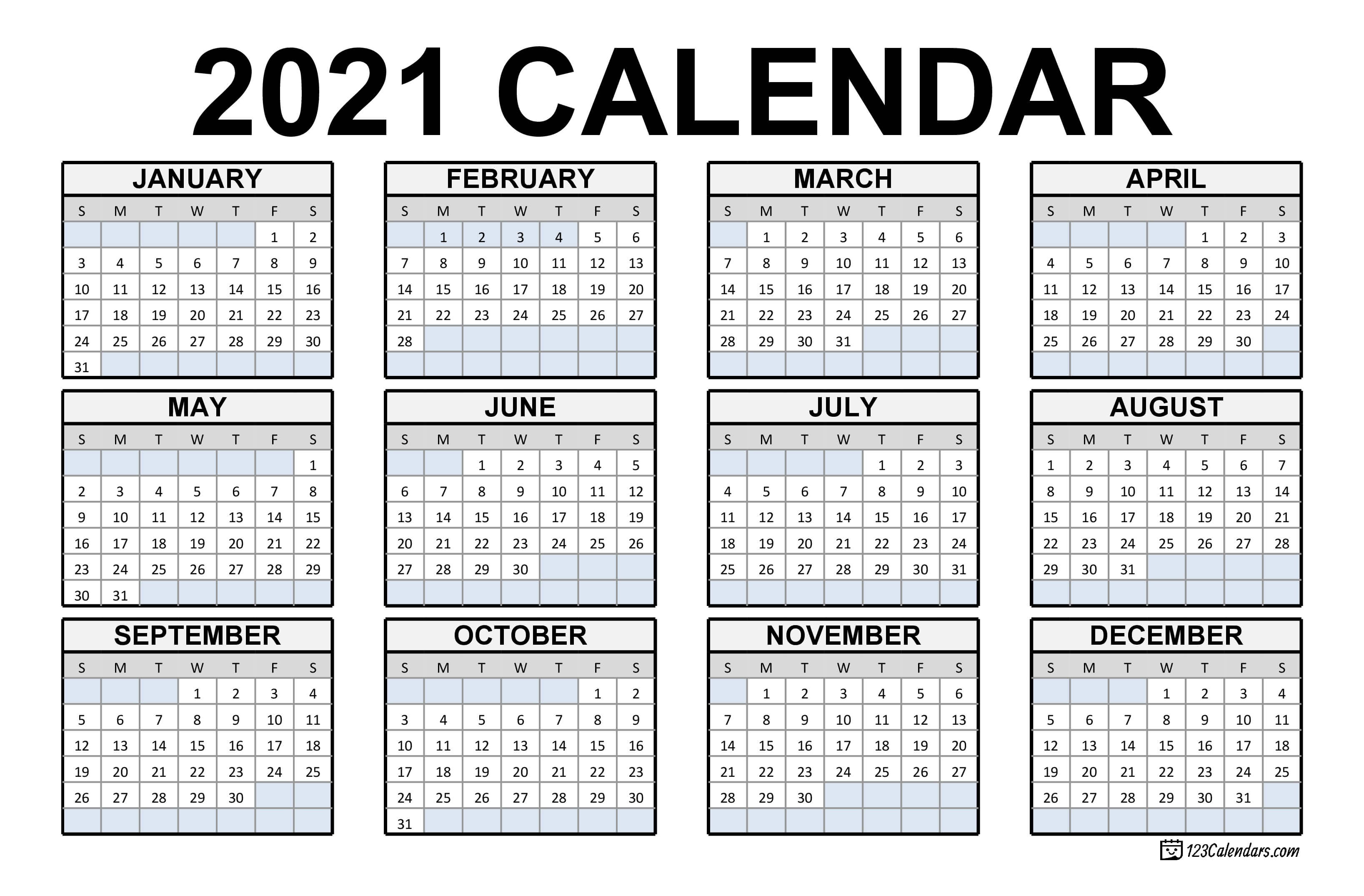 Free Download Canadian 2021 Calendar / 2021 Calendar With ...