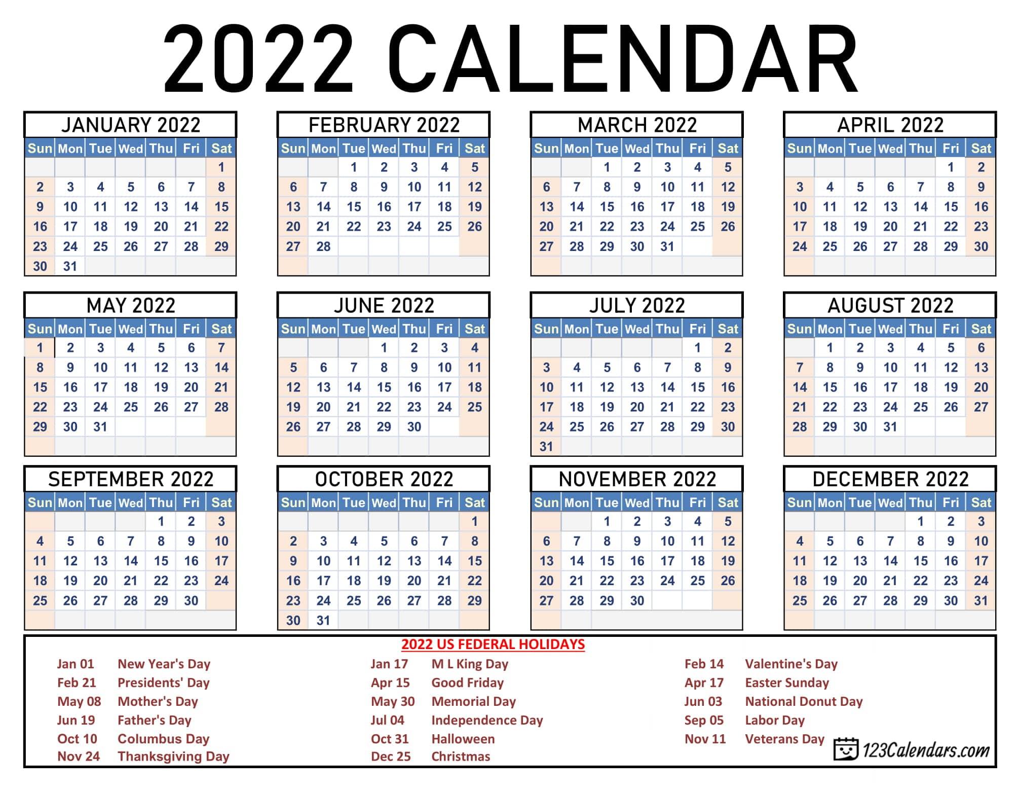 2021 Printable Calendar 123calendars Com