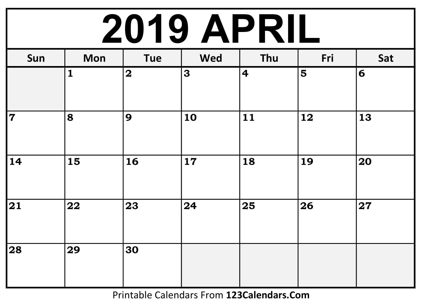 Calendar Craze April : Free april calendar printable template source