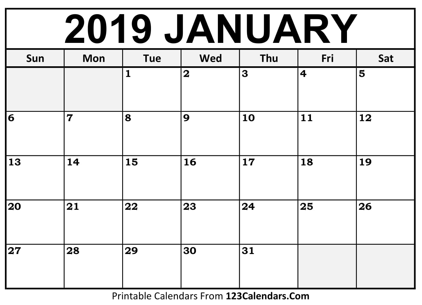photograph relating to January Printable Calender identified as No cost Printable Calendar