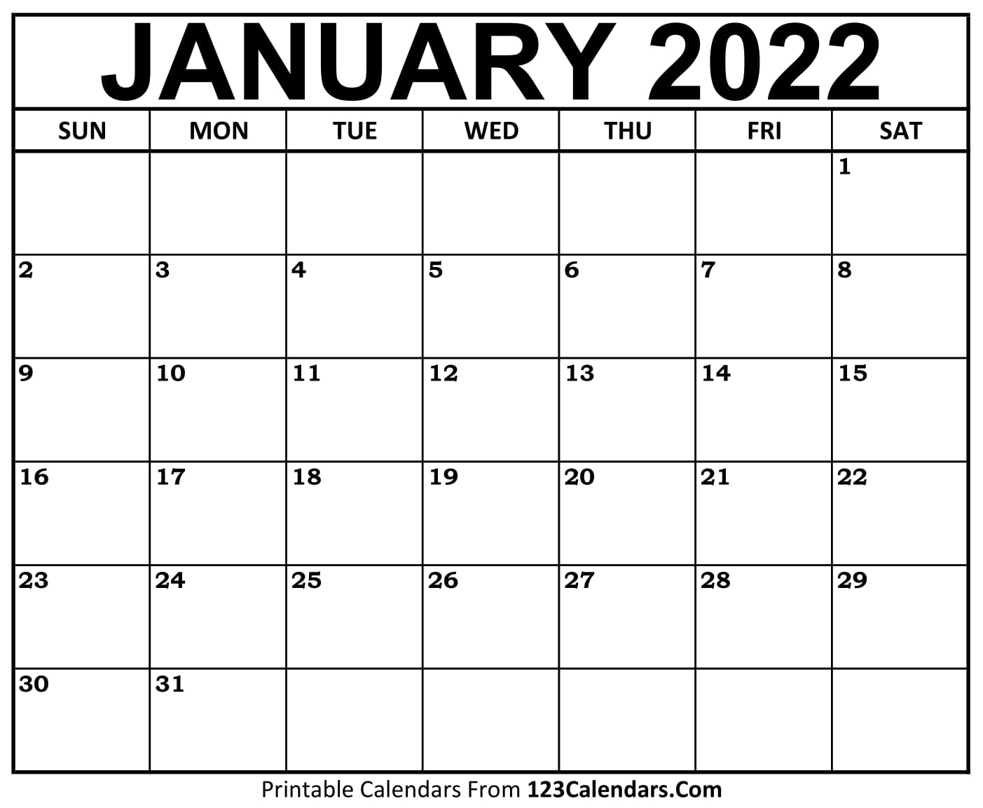 Calendar Jan 2021 Printable January 2021 Calendar Templates | 123Calendars.com
