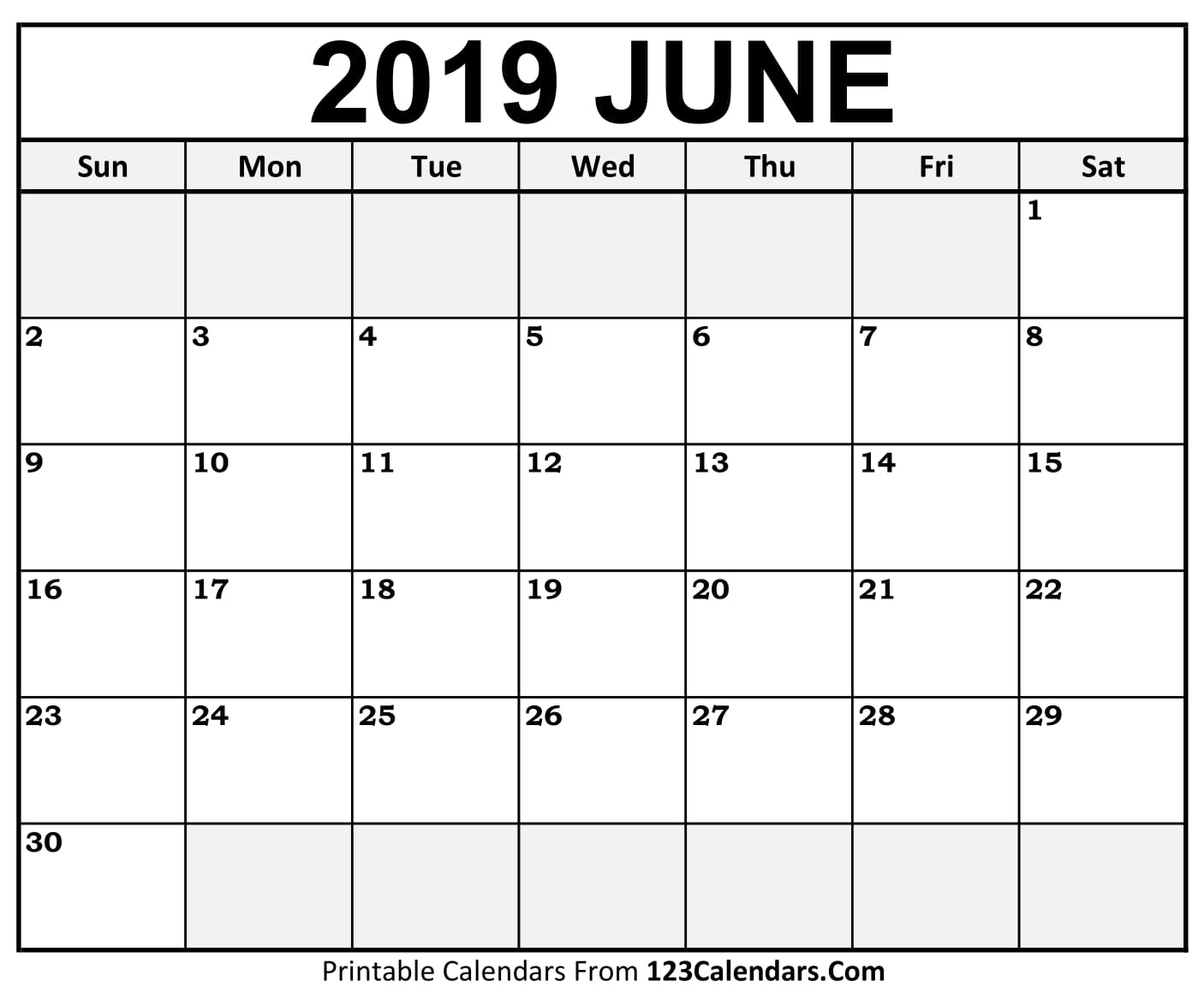 Printable June 2018 Calendar Templates - 123Calendars.Com 123Calendars.Com Printable June 2018 Calendar