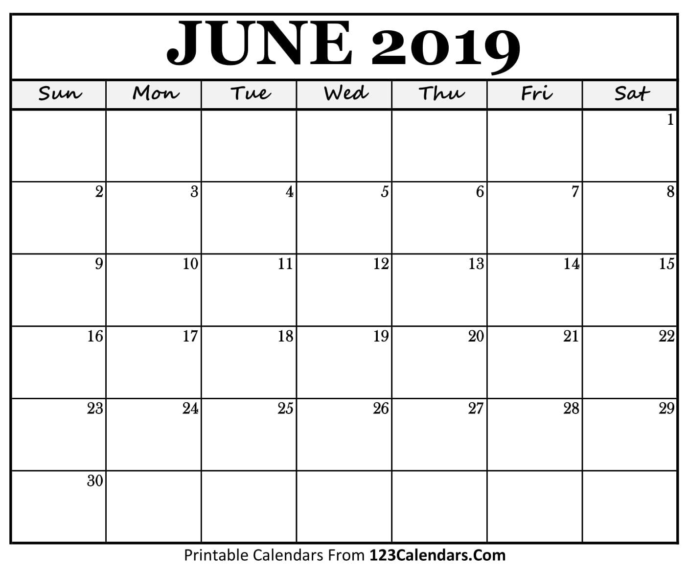 printable june 2018 calendar templates 123calendars com. Black Bedroom Furniture Sets. Home Design Ideas