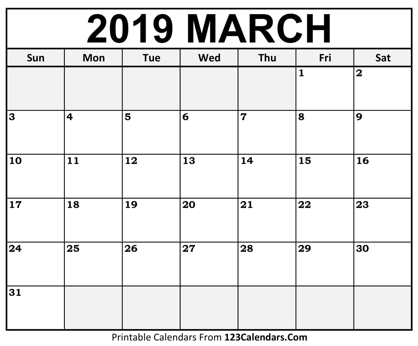 Printable March 2018 Calendar Templates 123calendars