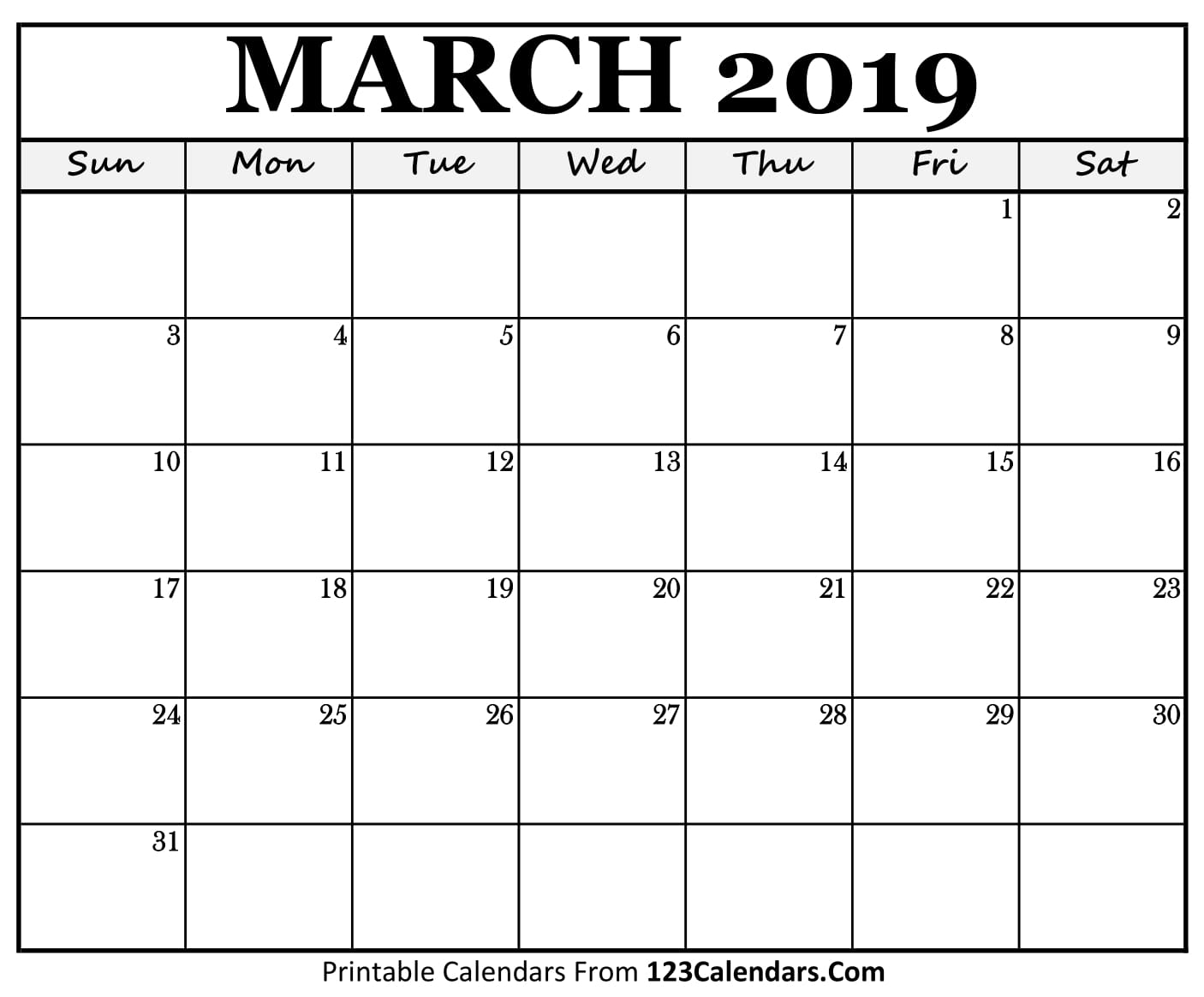 Calendar March 2018 Doc : Printable march calendar templates calendars