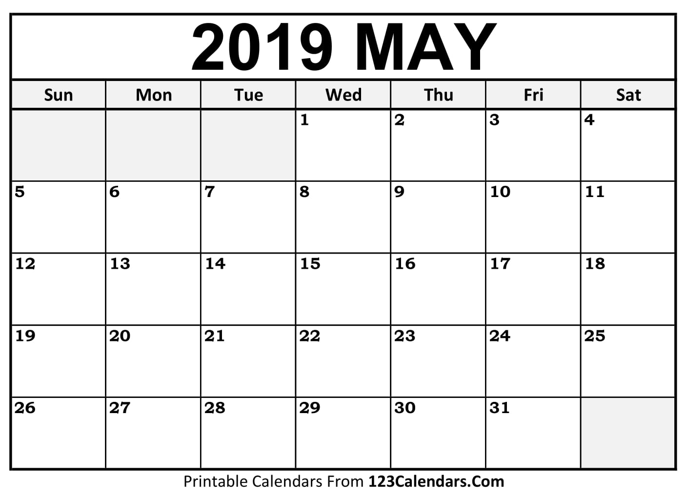 printable may 2018 calendar template pdf download with