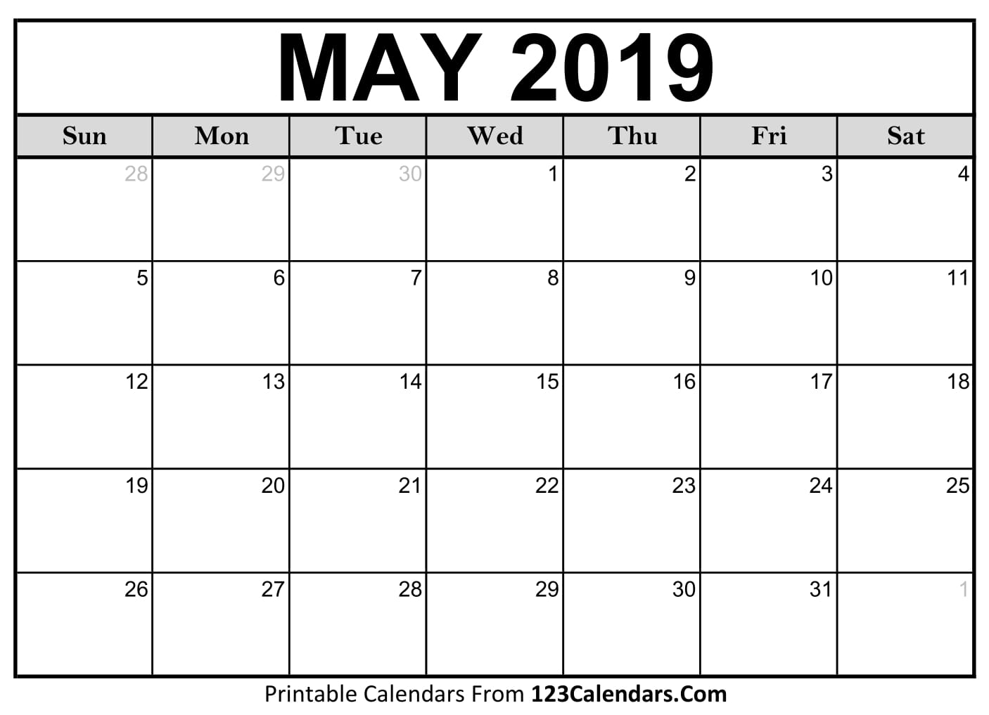 printable may 2018 calendar templates 123calendarscom