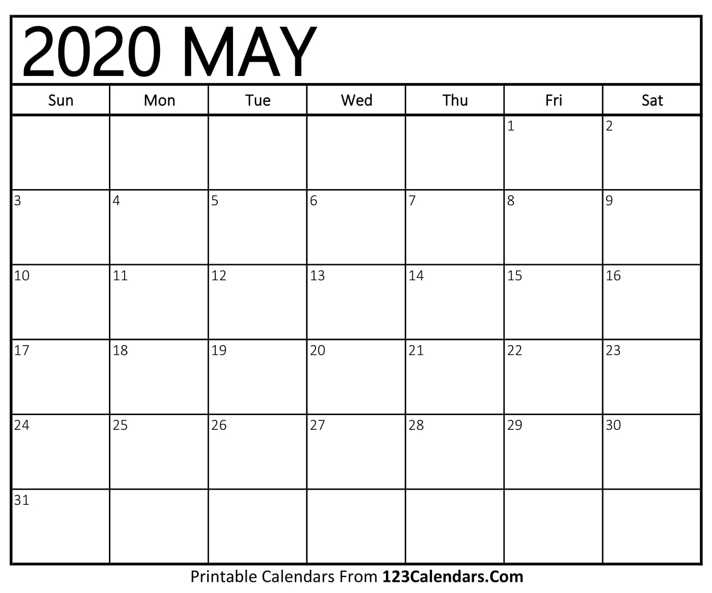 photograph regarding Printable May Calendars named Could 2020 Printable Calendar