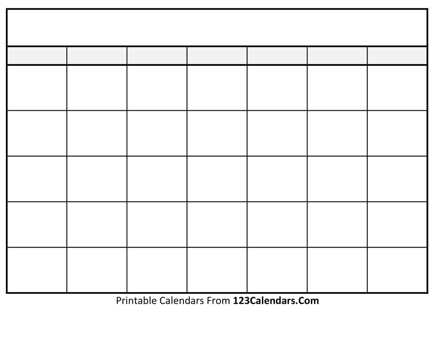 printable blank calendar templates 123calendars com